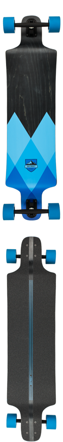 D Street Geo Drop Through Blue Complete Longboard