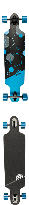 D Street Polygon Series Hex Drop Through Complete Longboard