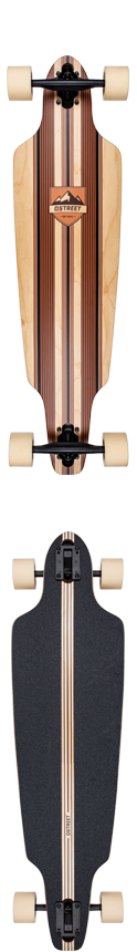 D Street Stinger Drop Through Natural Complete Longboard