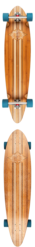D Street Marina Bamboo Pintail Complete Longboard