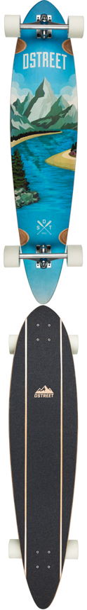 D Street Journey Freedom Pintail Complete Longboard