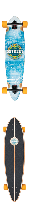 D Street mexico Series Mayan Pintail Complete Longboard