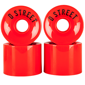 D Street 59 Cent wheels in red are part of D Street's range of skateboard accessories and skateboard parts
