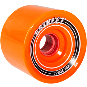 D Street Fly Wheels in orange are part of D Street's range of skateboard accessories and skateboard parts