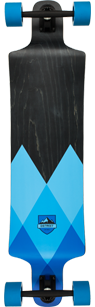 D Street Geo Blue drop down longboard graphic
