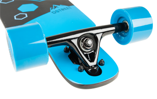 D Street Polygon Hex drop through longboard reverse kingpin trucks and wheels