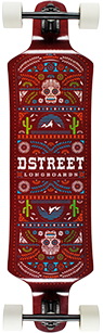 D Street mexico Series El Mexicana drop down longboard graphic