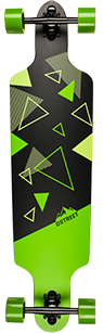 D Street Polygon Tri drop through longboard graphic