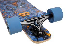 D Street Underwater Shipwrecked drop down longboard reverse kingpin trucks and wheels