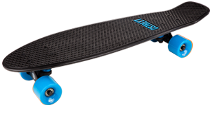 D Street Grande V2 Polyprop Cruiser Black and Blue angled