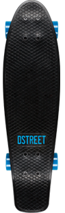 D Street Grande V2 Polyprop Cruiser Black and Blue top