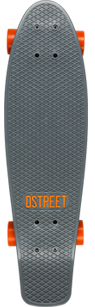 D Street Grande V2 Polyprop Cruiser Grey and Orange top