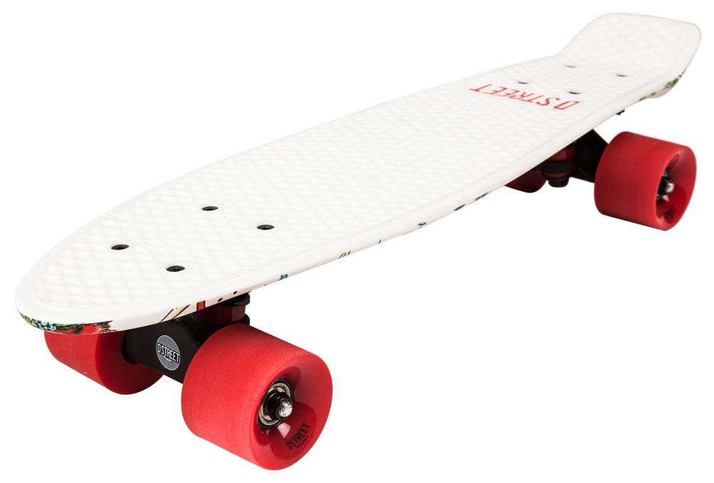 "Dstreet POLYPROP MINI retrò bambini Skateboard Roll Brett CRUISER 23/"" Rasta"