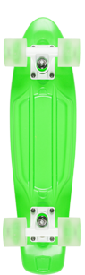 D Street Neon Flash Polyprop Plastic Skateboard Cruiser Green bottom