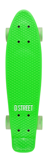D Street Neon Flash Polyprop Classic Plastic Skateboard Cruiser Green top