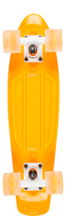 D Street Neon Flash Polyprop Plastic Skateboard Cruiser Orange bottom