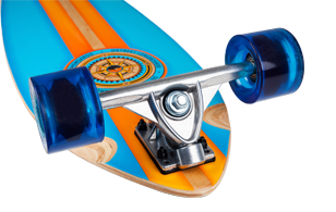 D Street Compass pintail longboard trucks and wheels