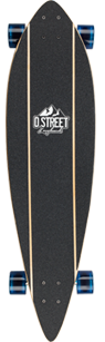 D Street Compass pintail complete longboard griptape