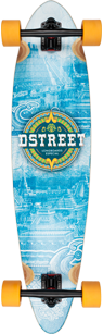 D Street mexico Series Mayan pintail longboard graphic