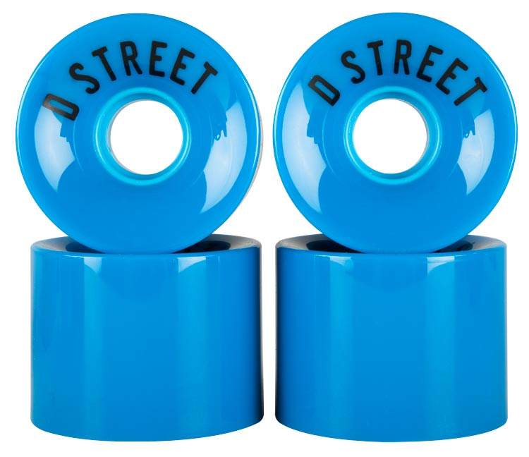 D Street 59 Cent wheels in blue are part of D Street's range of skateboard accessories and skateboard parts