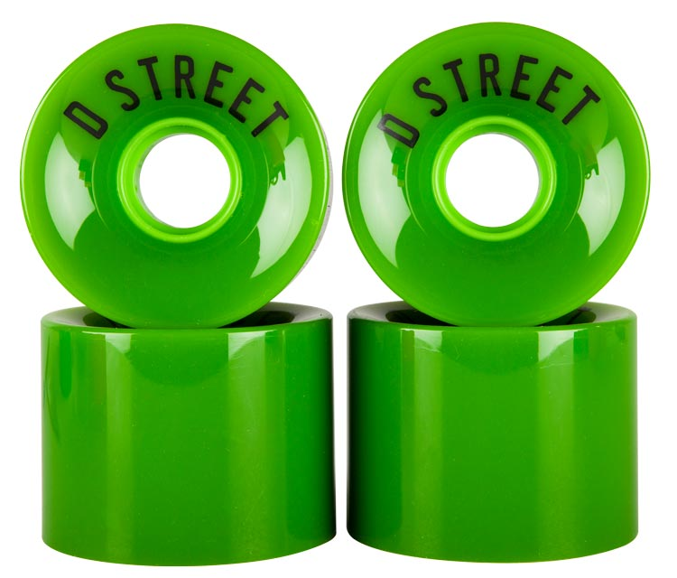 D Street 59 Cent wheels in green are part of D Street's range of skateboard accessories and skateboard parts