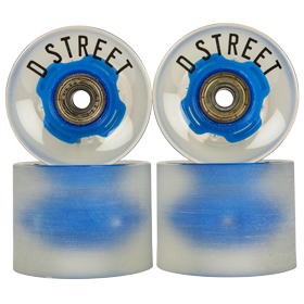 D Street 59 Cent LED flashing skateboard wheels in blue are part of D Street's range of skateboard accessories and skateboard parts