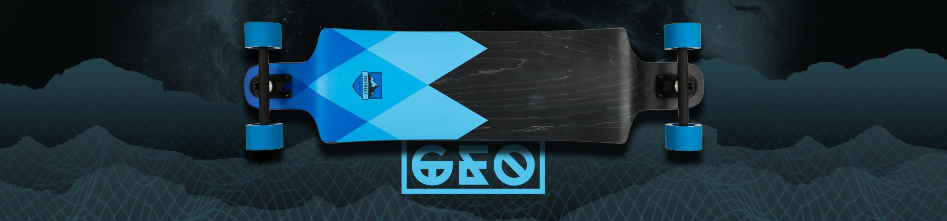 D Street Geo Series drop through longboard skateboards